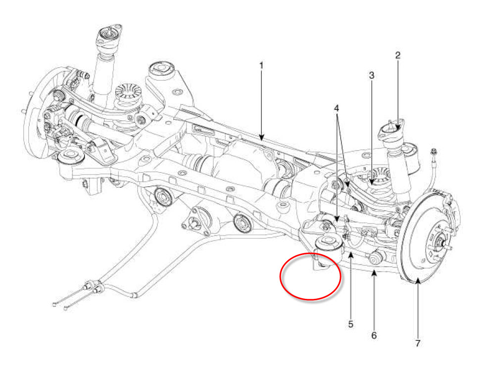 01 sonata rear suspension